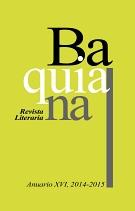 Anuario XVI - Revista Literaria Baquiana 135 X 211
